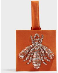 Sanayi 313 - Ragno Embroidered Satin Clutch - Lyst