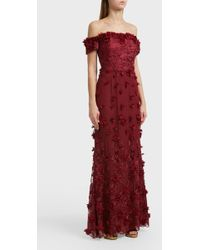 Notte by Marchesa - Off-the-shoulder Gown, Size Us6, Women, Red - Lyst