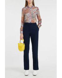 Paul & Joe - Floral-print Silk Blouse - Lyst