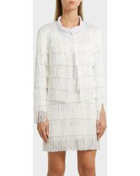 Norma Kamali - Fringed Jacket, Size S, Women, White - Lyst