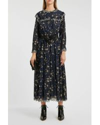 Étoile Isabel Marant - Eina Embroidered Floral-print Cotton Midi Dress - Lyst