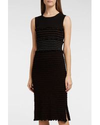 Altuzarra - Sylvie Smocked Jersey Dress, Size Fr38, Women, Black - Lyst