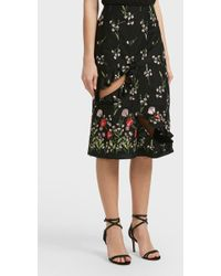 Marques'Almeida - Embroidered Cotton-blend Skirt, Size Uk8, Women - Lyst