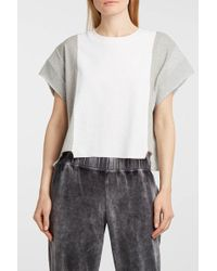 T By Alexander Wang - Printed Waffle-knit Cotton-blend T-shirt - Lyst