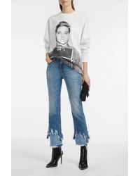 R13 | Cropped Distressed Flared Jeans | Lyst