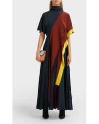 ROKSANDA - Arisha Draped Silk Dress - Lyst