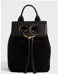 JW Anderson - Mini Pierce Backpack, Size Os, Women, Black - Lyst