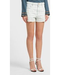 Étoile Isabel Marant - Celsa Distressed Denim Shorts, Fr40 - Lyst