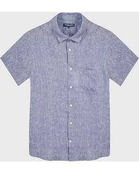 Frescobol Carioca - Short Sleeve Linen Shirt - Lyst