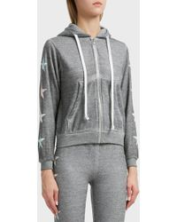 Wildfox - Starlight Cotton-blend Hoodie, Size Xs, Women, Grey - Lyst