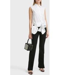 Victoria, Victoria Beckham - Bow Detail Cotton Shirt, Uk8 - Lyst
