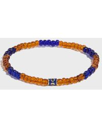 Luis Morais - Barrel Bead Bracelet, Size Os, Men, Orange - Lyst