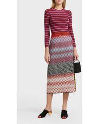 Missoni | Checkered Print Skirt | Lyst