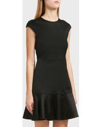 Theory - Flared Hem Dress, Size Us4, Women, Black - Lyst
