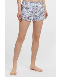 Lucas Hugh - Glitch Printed Shell Shorts, Size Xs, Women - Lyst