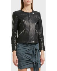 Étoile Isabel Marant - Grinly Leather Biker Jacket, Fr38 - Lyst
