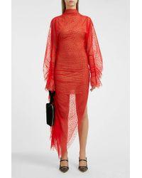 Paula Knorr - Asymmetric Flocked Tulle Gown - Lyst