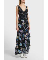 3.1 Phillip Lim - Floral Tier Silk Dress, Size Us4, Women, Floral - Lyst