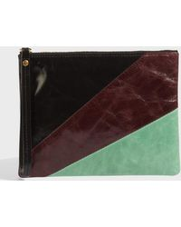 Isabel Marant - Netah Leather Pouch, Size Os, Women, Green - Lyst
