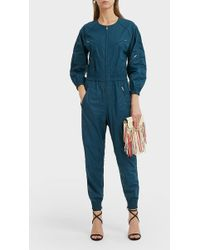 Isabel Marant - Mallory Coated Cotton Jumpsuit - Lyst