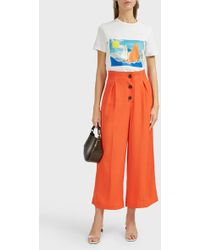 Isa Arfen - Sails-print Cotton T-shirt - Lyst