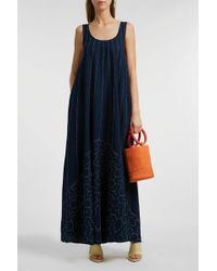 Elizabeth and James - Oasis Embroidered Cotton Maxi Dress, S - Lyst