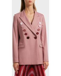 Marco De Vincenzo - Double-breasted Stretch-wool Blazer - Lyst