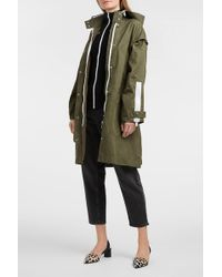 Proenza Schouler - Pswl Cotton-drill Hooded Coat - Lyst