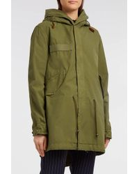 Mr & Mrs Italy - Cotton-canvas Parka, Size Xs, Women, Green - Lyst