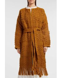 Ulla Johnson - Amara Fringed Crocheted Cotton Coat, M/l - Lyst