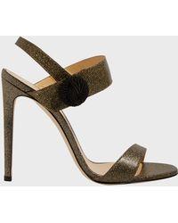 Chloe Gosselin - Tori Glittered Leather Sandals - Lyst
