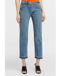 Helmut Lang - Frayed Straight-leg Jeans, Size 26, Women, Blue - Lyst
