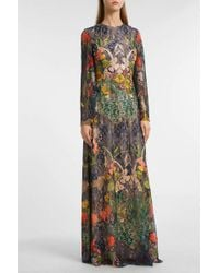 Reem Acra - Embroidered Lace Gown - Lyst