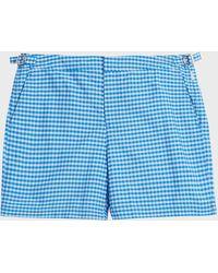 Orlebar Brown - Bulldog Gingham Swim Shorts - Lyst