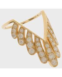 Yvonne Léon - Diamond And 18k Yellow Gold Les Vivianes Ring - Lyst