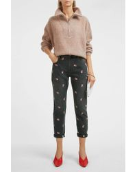 Étoile Isabel Marant - Cliffy Embroidered Jean - Lyst