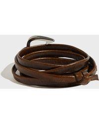 Miansai - Hook On Leather Bracelet - Lyst