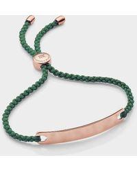 Monica Vinader - Gp Havana Friendship Bracelet, Size Os, Women, Gold - Lyst