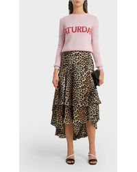 Alberta Ferretti - Saturday Intarsia Wool And Cashmere-blend Jumper - Lyst