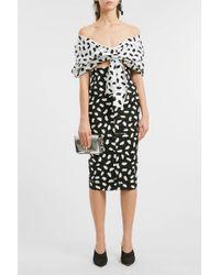 Off-White c/o Virgil Abloh - Printed Cotton Midi Skirt - Lyst