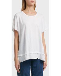 Current/Elliott - High-low Cotton T-shirt, Size 3, Women, White - Lyst