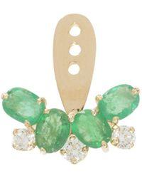 Yvonne Léon | Diamond And Emerald Earring | Lyst
