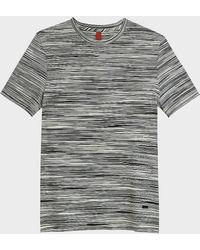 Missoni - Space Dye Short Sleeve Crewneck Cotton T-shirt - Lyst