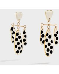 Sonia Boyajian - Polka Dot Gold-tone Ceramic Earrings - Lyst