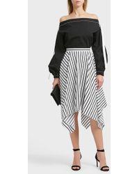 Adam Lippes   Striped Cotton Skirt   Lyst