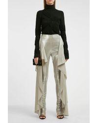 Paula Knorr - Draped Lamé Skinny Trousers - Lyst