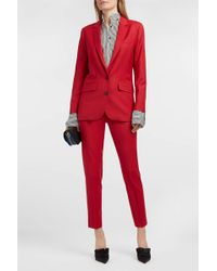 Paul & Joe - Solveig Wool-blend Blazer, Size Fr34, Women, Red - Lyst