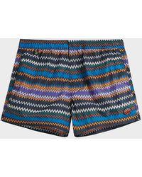 Missoni - Printed Swim Shorts - Lyst