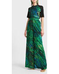 Elie Saab | Printed Silk Trousers | Lyst