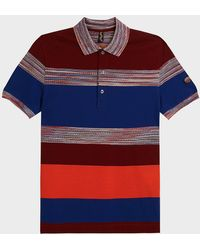 Missoni - Block Stripe Short Sleeve Polo T-shirt - Lyst